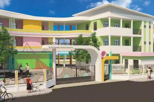 Xây dựng trường mầm non Quang Minh B – Mê Linh – Hà Nội